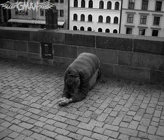 prague 2005 - begger by ~yourSecondBrain