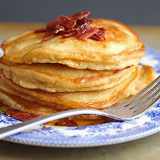 Brown Sugar Pancakes with Bacon Maple Butter