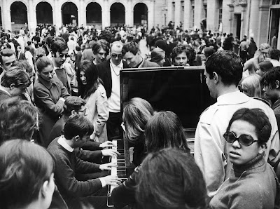 Revolution as festival: A piano in the courtyard of the Sorbonne