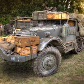 US Army Tracked WW2 by John Walton - Transportation Automobiles ( ww2, asrmy, heritagefocus, us army, lorry )