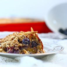 Whole Grain Buttery Blueberry Breakfast Cake