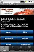 Screenshot of BayLobsters Fish Market