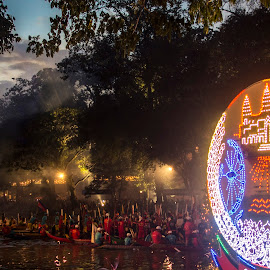 Closing Ceremonies by Justine Carlyle - News & Events World Events ( water, sunset, boats, fireworks, festival, race, river, siem reap,  )