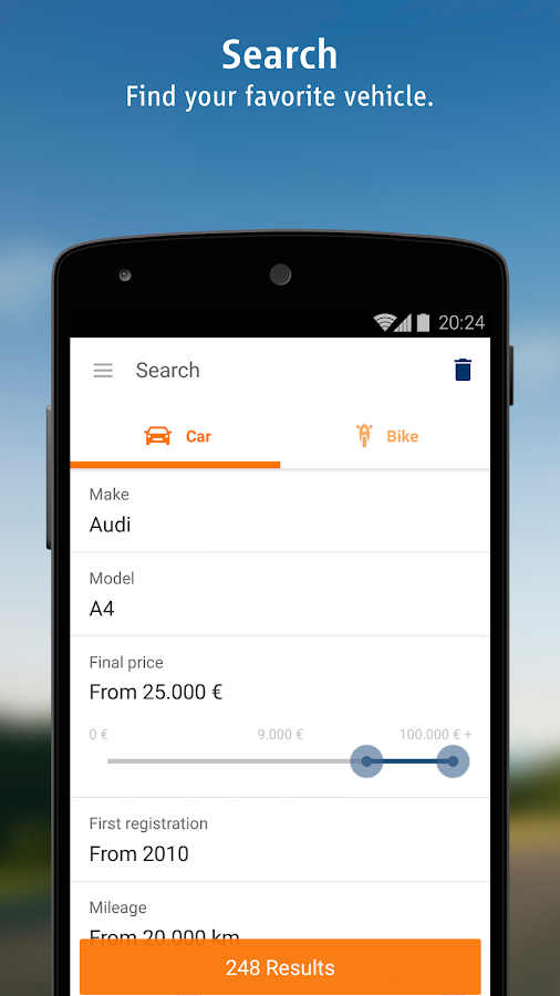 Used Car Finder - Autoscout Used Car Finder Screenshot