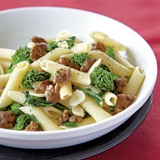 Penne with Sausage, Garlic, and Broccoli Rabe Recipe | Yummly