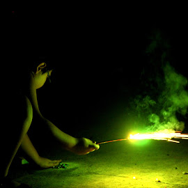 The Brave by Swastik Ray - Novices Only Portraits & People ( diwali, fireworks )