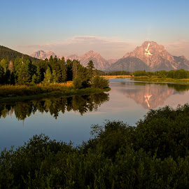 Teton by Adam Taylor - Novices Only Landscapes ( mountains, wyoming, lines, rivers, teton,  )