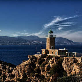 lighthouse melagkavi by Petros Dinos - Buildings & Architecture Statues & Monuments