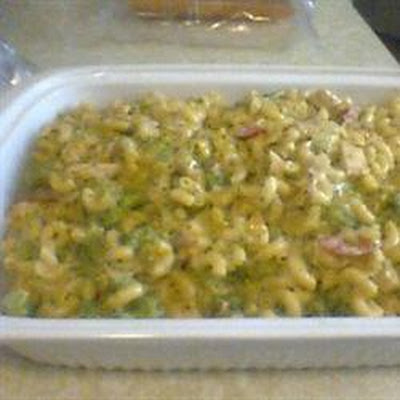 Macaroni and Cheese with Chicken and Broccoli