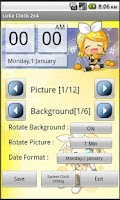 Screenshot of Chibi Rin Clock Widget (2x4)