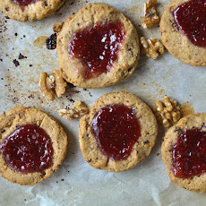 Jammy Raspberry and Walnut Scones