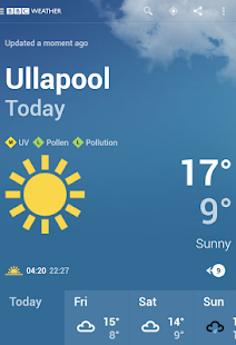 Free BBC Weather APK for Windows 8
