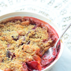 Quick Stone Fruit Crisp