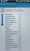Screenshot of Helsinki Timetables