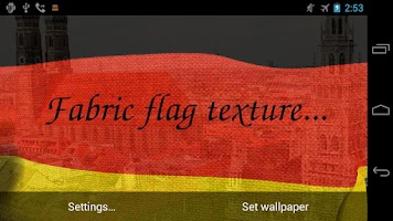 Screenshot of 3D Germany Flag LWP +
