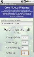 Screenshot of Conta Calorie Italiano DEMO