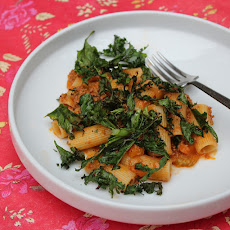 Rigatoni with Bolognese Style Ragu and Crispy Kale