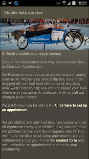 DrBeyk's mobile bike service - screenshot