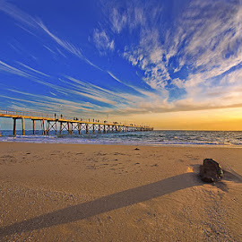 Port Noarlunga before sunset by Zdenka Rosecka - Buildings & Architecture Bridges & Suspended Structures