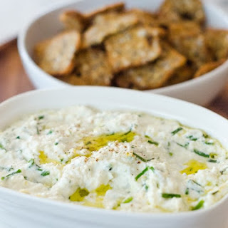 Baked Ricotta with Lemon, Garlic, & Chives