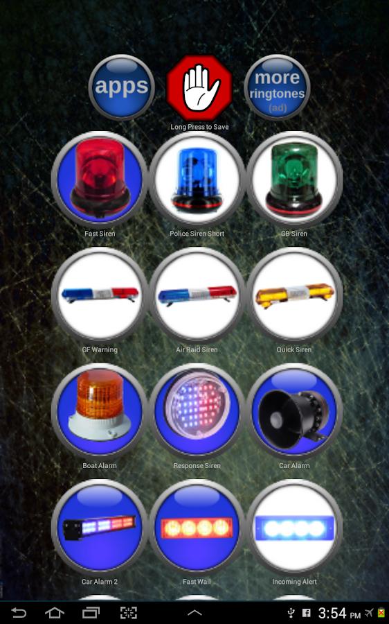 Sirene Klingeltöne – Screenshot