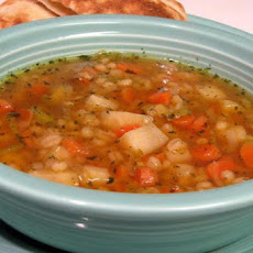 Barley Soup With Root Vegetables