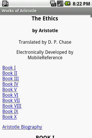 【免費書籍App】Works of Aristotle-APP點子
