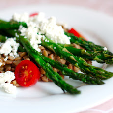 Lentil, Goat Cheese, and Asparagus Salad