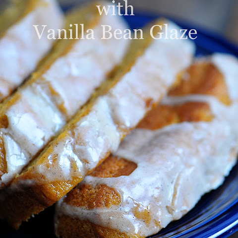 Pumpkin Banana Bread with Vanilla Bean Glaze