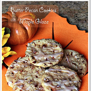 Butter Pecan Cookies With Maple Glaze