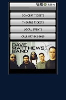 Screenshot of Dave Matthews Band Tickets