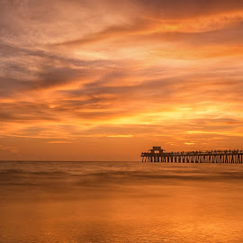 Naple's Pier by Eduardo Llerandi - Landscapes Beaches (  )