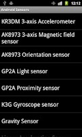 Screenshot of Sensors of Android