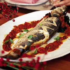 Braised Sea Bass With Spinach