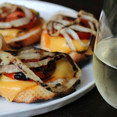 Animal-Style Grilled Cheese Bruschetta