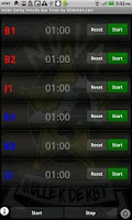 Screenshot of Roller Derby PenaltyTimer Free