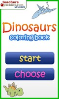 Screenshot of Dinosaurs Coloring Book
