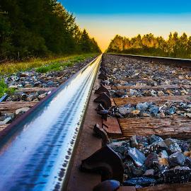 Voie ferrée by Bertrand Lavoie - Transportation Railway Tracks ( voie ferrée, track )