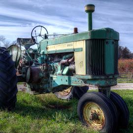John Deere by Calvin Morgan - Transportation Other ( hdr, farm equiptment, john deere, display, nikon d7000, tractor )