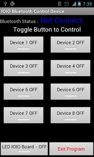 IOIO Bluetooth Device Control
