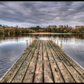 The Jetty by Jean-Paul Srivalsan - Landscapes Waterscapes ( cloud formations, water, peaceful, hdr, serene, waterscapes, landscapes, waterfront )