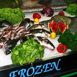 Fish Market by Brenda Hooper - Food & Drink Meats & Cheeses ( karlovy vary, market, fish, sea food, czech republic,  )