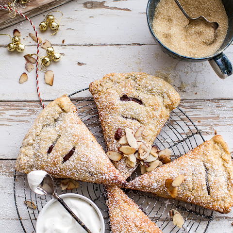 Loaded Chocolate Hazelnut Liquor Turnovers with Salted Vanilla Bean Whipped Cream.