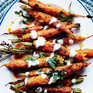 """Tandoori"" Carrots with Vadouvan Spice and Yogurt"