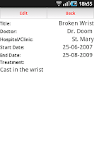 Screenshot of Medical ID
