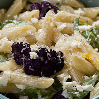 Roasted Cauliflower, Feta, and Lemon Pasta