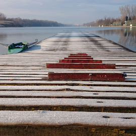Rowing channel Plovdiv  by Daniel Chobanov - Instagram & Mobile Android ( plovdiv, rowing, morning, channel, bulgaria )