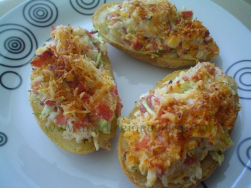 Twice Baked Irish Style Potatoes