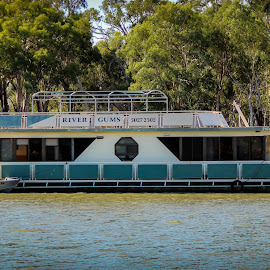 Cruising By by Isaac Logan - Landscapes Travel ( murray, houseboat )