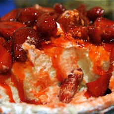 Strawberry Bottom Cheesecake Pie